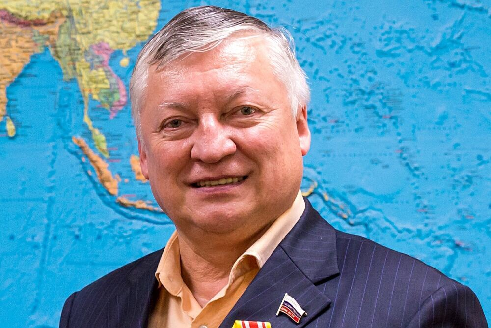 President of Association - many times Chess World Champion, Deputy Chairmen of Russian Parliament Committee for foreign affairs .Anatoly Karpov